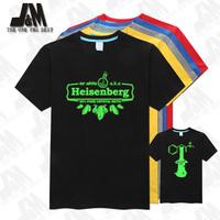 high quality breaking bad heisenberg men's t-shirt 100% cotton american TV short sleeve S-6XL free shipping