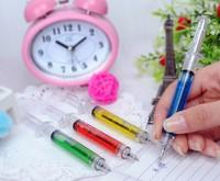 Hot Sale Syringe ballpoint pen Novelty Plastic Novelty pens 4 Collors Mixed Stationery 100pcs/lot Free Shipping