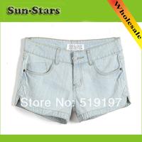 2014 New Fashion Spring Summer sexy light blue plus size XXXXL casual denim short feminino high waist shorts women short jeans