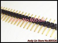 Free Shipping 20pcs/LOT  Gold plated Single Row 1x40 pin 2.54mm Male Header 40 pin Andy Lin