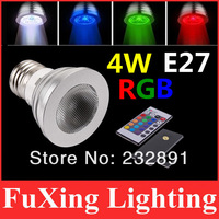 2014 New Innovative items 4W E27  RGB LED Bulb 16 Color Change Lamp spotlight 110-245v for Home Party decoration with IR Remote
