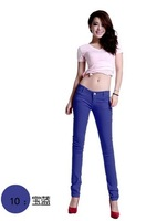2014 Free Shipping Hot Sale New Plus Size Pencil Pants Women Candy Colors Casual Slim Skinny Jeans Pencil Pants Ladies WomenD10