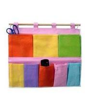 Free Shipping 2pcs/lot Fashion Colorful Two Layer 5 Pocket Storage Bag.A178
