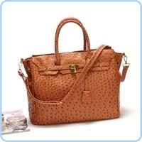 The atmosphere outside the single high-end European and American fashion handbags ostrich pattern handbag Messenger bag#54138