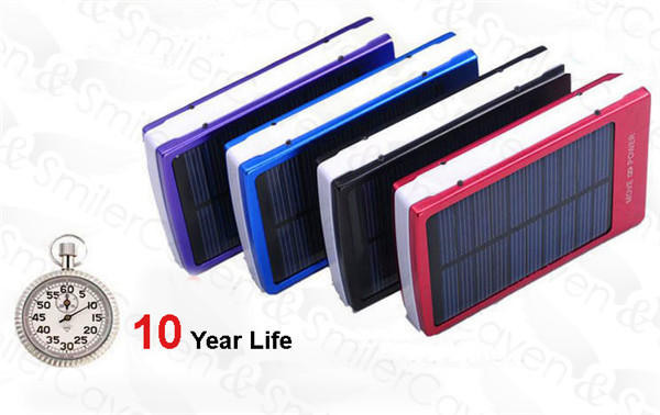 2014 New 30000mAh Solar Backup Powers/Solar Charger/Power Bank/Portable Rechargeable Battery for iPhone/samsung/iPad 4 color(China (Mainland))