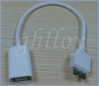 USB 3.0 Note 3 white OTG Cable Adapter For samusng galaxy Note3 N9000 s5 i9600 DHL free 200pcs/lot
