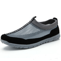 2014 summer low male breathable shoes network casual skateboarding shoes male sandals hole shoes the trend of the beach shoes