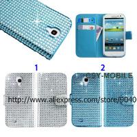 Bling Bling Diamond Rhinestone Wallet Leather case for Samsung Galaxy S4 bling diamond case for girls