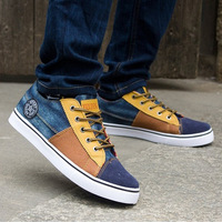 2014 New Canvas Gentlemen Sneakers for Men Sports Casual Shoes Slip Resistant Men Flat Casual Lace-up Shoes A72