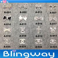 Factory Direct  12Pcs 3D Metal Nail Art Decoration / Cellphone Rhinestone Glitters Decoration + Free Shipping
