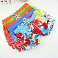 baby child cotton underwear kid s cartoon spider man panties boy s boxer briefs freeshipping 12pcs/lot