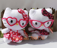 LOTS 2PCS/pair Sanrio Ty Hello Kitty LOVES LEOPARDS STYLISH Stuffed Dolls Plush toy FREE SHIPPING IN HAND!