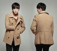 FREE SHIPPING, New promotion winter men's woolen coat jacket,Casual Stylish Design 2138