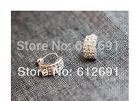 Fashion crystal earrings ear cuffs flash drilling C-type no pierced ear clip ear cuff adjustable earring LM-C280