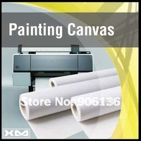 """24"""" inch eco-solvent cotton painting canvas rolls glossy surface"""