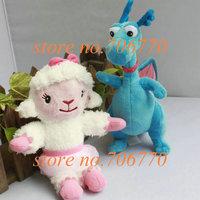 LOTS 2PCS/pair Doc Mcstuffins Friends Lambie Stuffy 16cm cute Stuffed Dolls Plush toy FREE SHIPPING IN HAND!