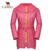 Camel outdoor Women clothing anti-uv breathable trenchA4S117013