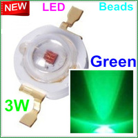 50pcs/lot Free shipping 3W green led beads 120-130mil 3W leds led greens high power lamp beads for 3W 6W 9W 12W 15W LED lamp DIY