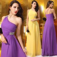 Lan kwai fong 2014 racerback one shoulder evening dress sexy slim long one-piece dress model service 5011
