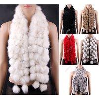 2014 New Women rabbit Fur Collar Neck Wrap Scarf Girl scarf Shawl