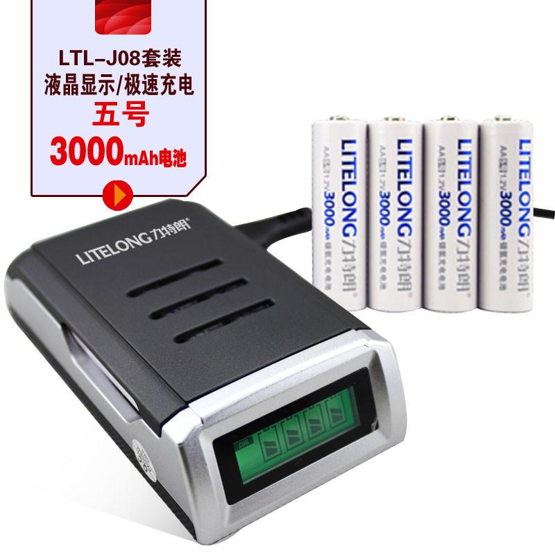 Аккумуляторы для MP3 / MP4-плеера LITELONG AA/AAA ( ) + 4 AA Ni MH 3000mAh LTL-J08+AA 3000mAh аккумуляторы hr06 aa duracell ni mh 1300 mah 2шт