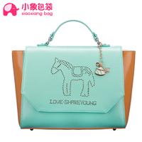 Free shipping Circleof bag 2014 spring and summer color block messenger bag shoulder bag women's bags x1526