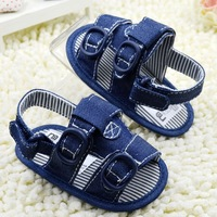 first walkers baby boy sandal summer denim blue shoes anti skid jeans mothercare buckle free shipping