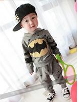 100% Pure Cotton Batman Baby Suit Set Coat + Pants Set Fashion Boy Clothes Set Fashion Baby Clothes Set