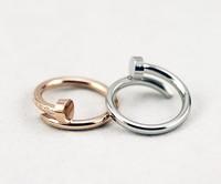 Fashion lady women jewelry elegant brief lovers screws nail alloy finger rings SR307