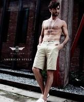 Summer Hot Short Pants Breathe Freely  Pure Color Joker Comfortable Cotton Men's Shorts