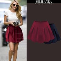 2014 women's fashion winter basic short skirt autumn and winter high waist puff skirt bust skirt