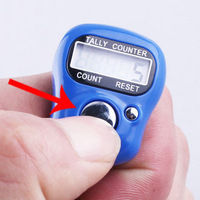 Free Shipping 10pcs/lot Mini LCD Electronic Digital Golf Finger  Tally Counter musabah hatim tasbih for muslim