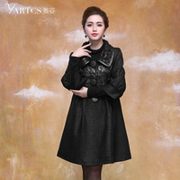 Pure plus size clothing mm trench female outerwear 2014 medium-long slim spring top