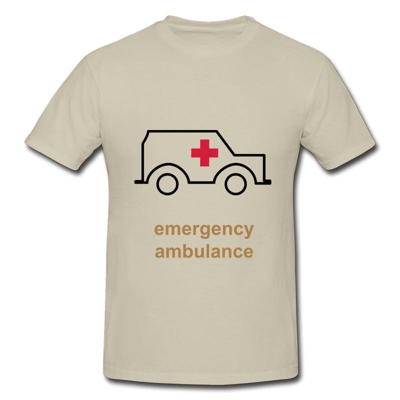 Print Slim Fit Tee Shirt Men's Ambulance - TWO COLOR VECTOR Music Texts T for Mens No Minimums(China (Mainland))
