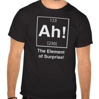 Ah! The element of surprise Black Tee Shirt Women Male %100 Cotton Short sleeve O-Neck Fashion Black Grey Custom T-Shirt