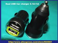 Mini  Dual 2 Port USB Car Charger For iPhone iPad iPod 3.1A Mini Car Charger Adapter 2.1A+1A