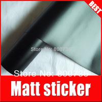 free shipping  1.52x60CM air free bubbles matte auto wrap/ matte black car vinyl
