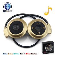 Sports Wireless Bluetooth Headset Folded Handsfree Neckband Earphones Headphone with Microphone Mini-503 for iPhone5 5s Samasung