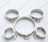 Plum blossom lock Handring Fetter Collar lock sex game 5pcs/sets ring