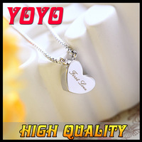 2014 Real Freeshipping Rose Romantic New Arrival Fashion Brand Women Necklace,18k Rose Plated Heart Necklaces Pendants, Ixl020