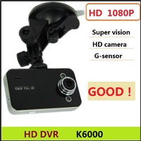 the hot  HD DVR recorder  K6000 HD 1080P video camera recorder  G-sensor  Night Vision free shipping