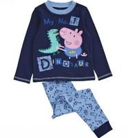 Free DHL/EMS 10sets/lot Peppa pig pajamas boys clothing set pepa pijamas children's wear autumn winter clothes Christmas pyjamas