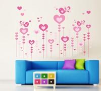 Free shipping!! JM7153 removable cartoon wall stickers girls room wall decor  60*90cm