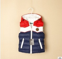 Free shipping 2014 autumn and winter children's clothing child vest male cotton vest baby casual vest,kids outwear free shipping