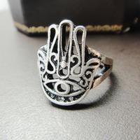 12pcs/lot fashion accessories fatima  ring hamsa ring vintage ring