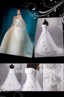 LB3703 Tulle Design Brand Crystal Flowers Style Strapless Sweetheart Bridal Wedding Dress,New Bridal Wedding Gown Free Shipping