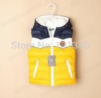 M01 Retail: babys winter hoodies coat Kids clothes Winter Jacket Children clothing coat Down Vest,baby warm vest