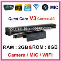 Quad Core Mini PC RK3188 Adnroid 4.2.2 TV Box V3II 2GB RAM 8G Built in 5.0MP Camera MIC RJ45 Bluetooth WIFI DLNA set to box