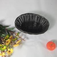 New Stocked Plastic Storage Basket Knitted sundries Black Oval Shape Basket Snacks Box  Key Keeping Debris Home Usage Made China