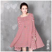 2014 maternity clothing spring and summer stripe skirt for pregnant women 2014 NEW ARRIVELS